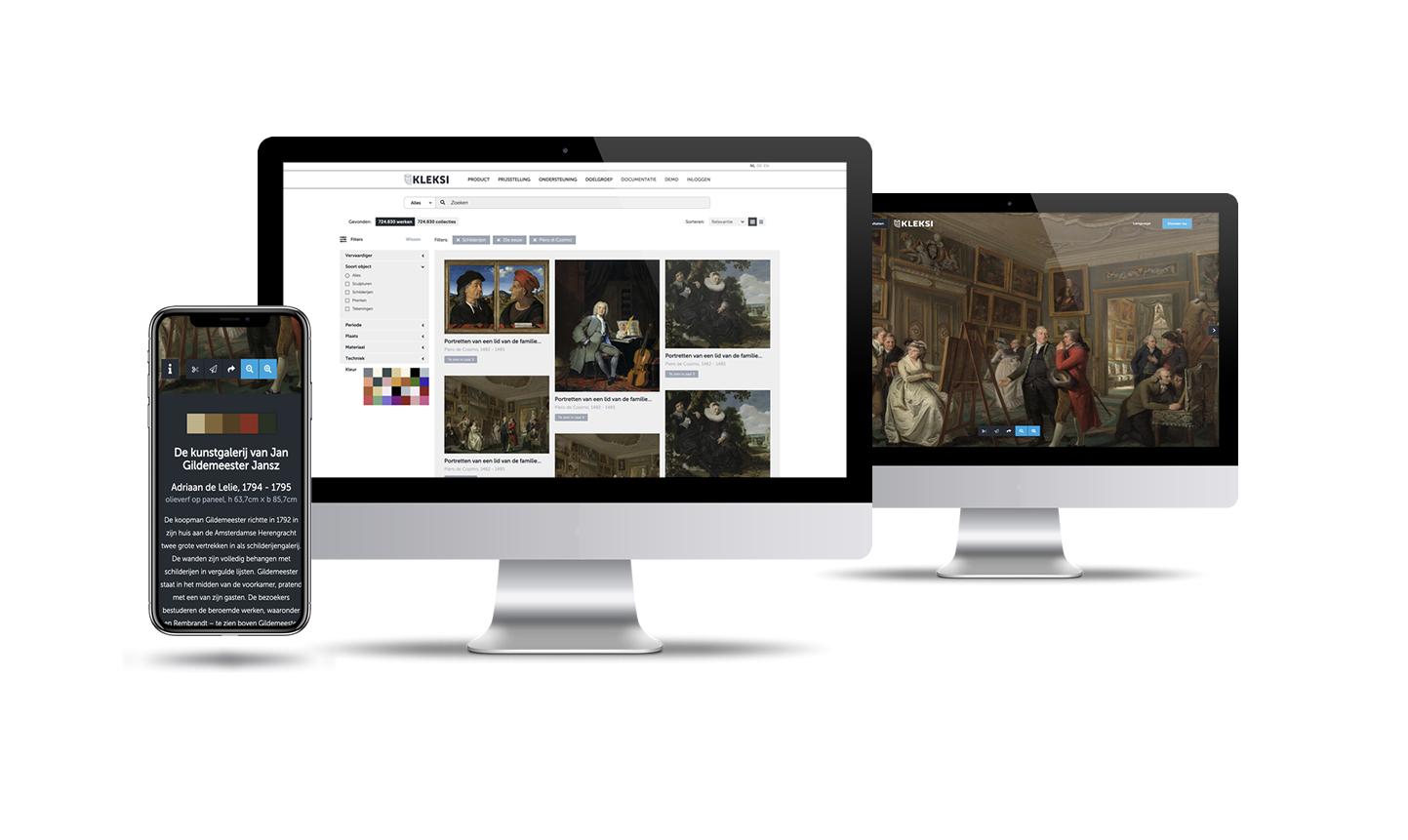 Standaard frontend met zoek- en filteroptie voor bezoekers van uw website
